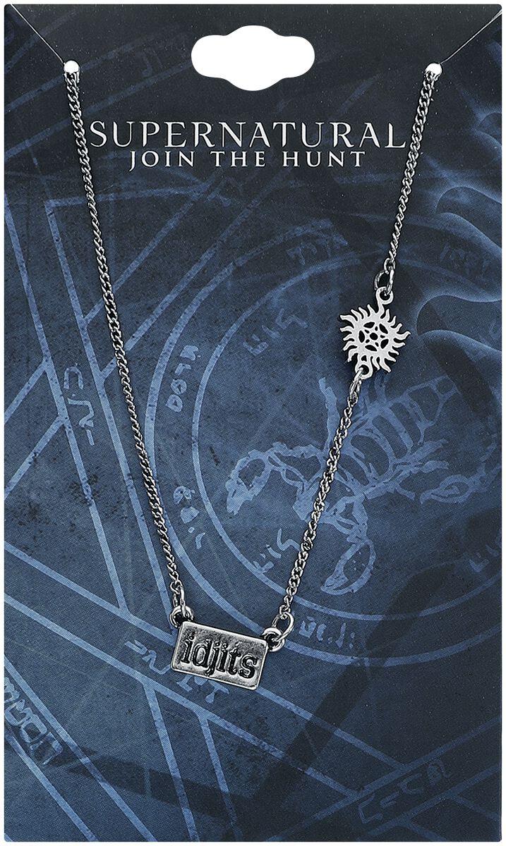 Image of   Supernatural Idjits Halskæde sølvfarvet