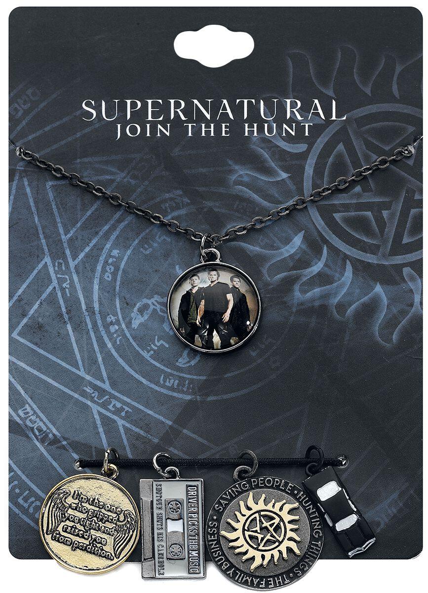 Image of   Supernatural Charms Halskæde sølvfarvet