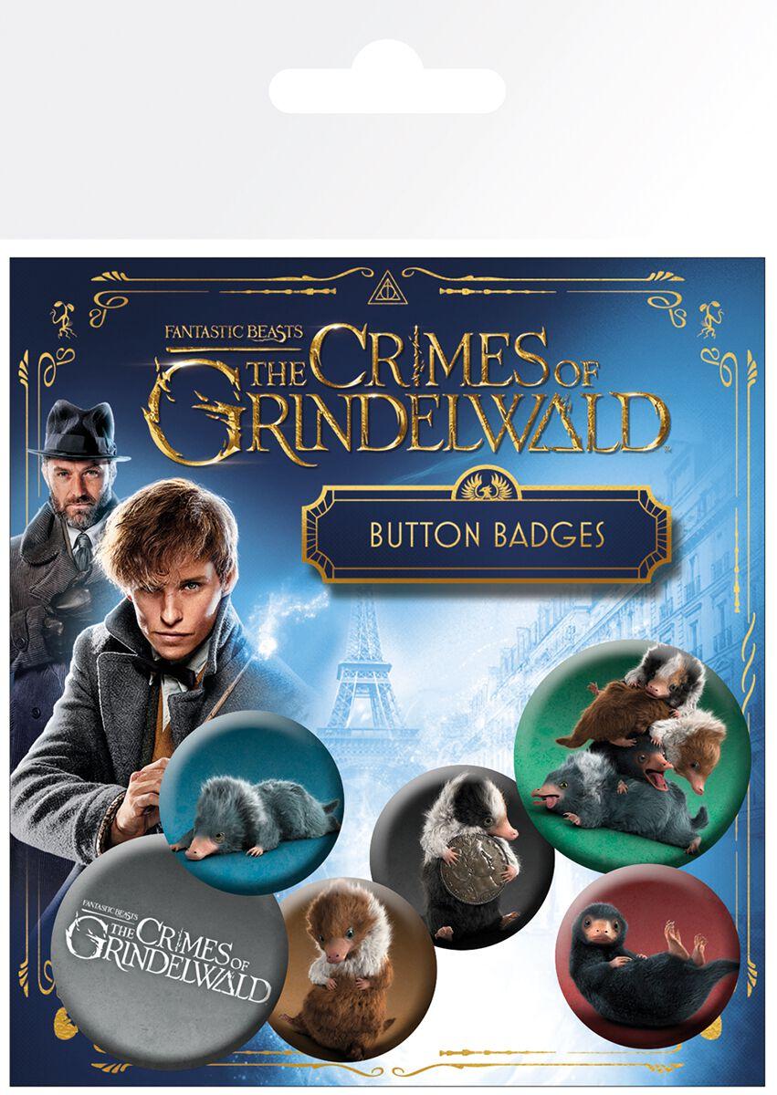 Image of   Fantastic Beasts Grindelwalds Verbrechen - Nifflers Badgepakke multifarvet