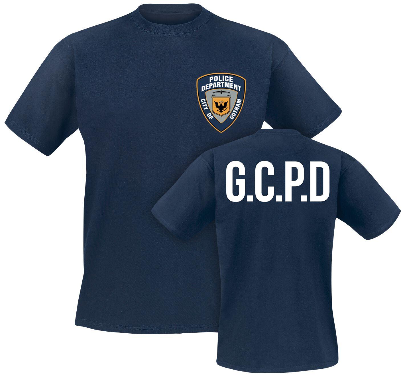 Image of   Batman The Dark Knight - Gotham City Police Department T-Shirt blå