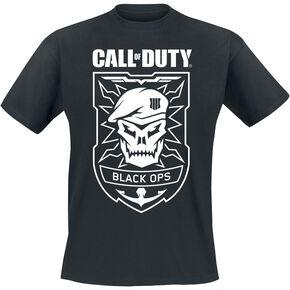 Call Of Duty Black Ops - Skull T-shirt noir