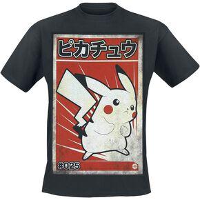 Pokémon Pikachu - Propaganda T-shirt noir