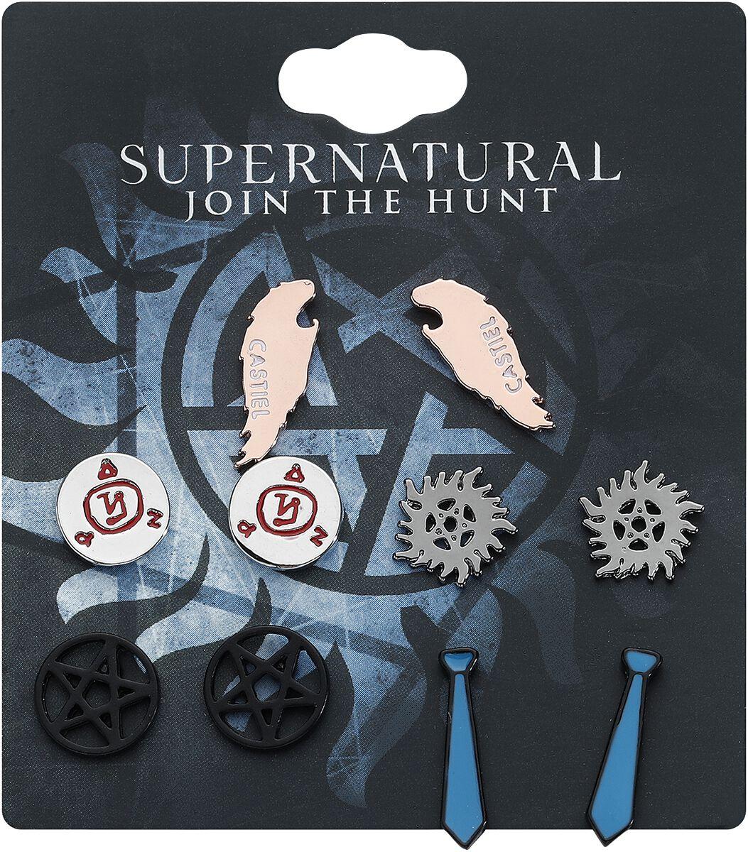 Image of   Supernatural Supernatural Ørestik sæt multifarvet