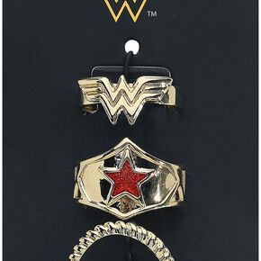 Wonder Woman Symbole Bague couleur or