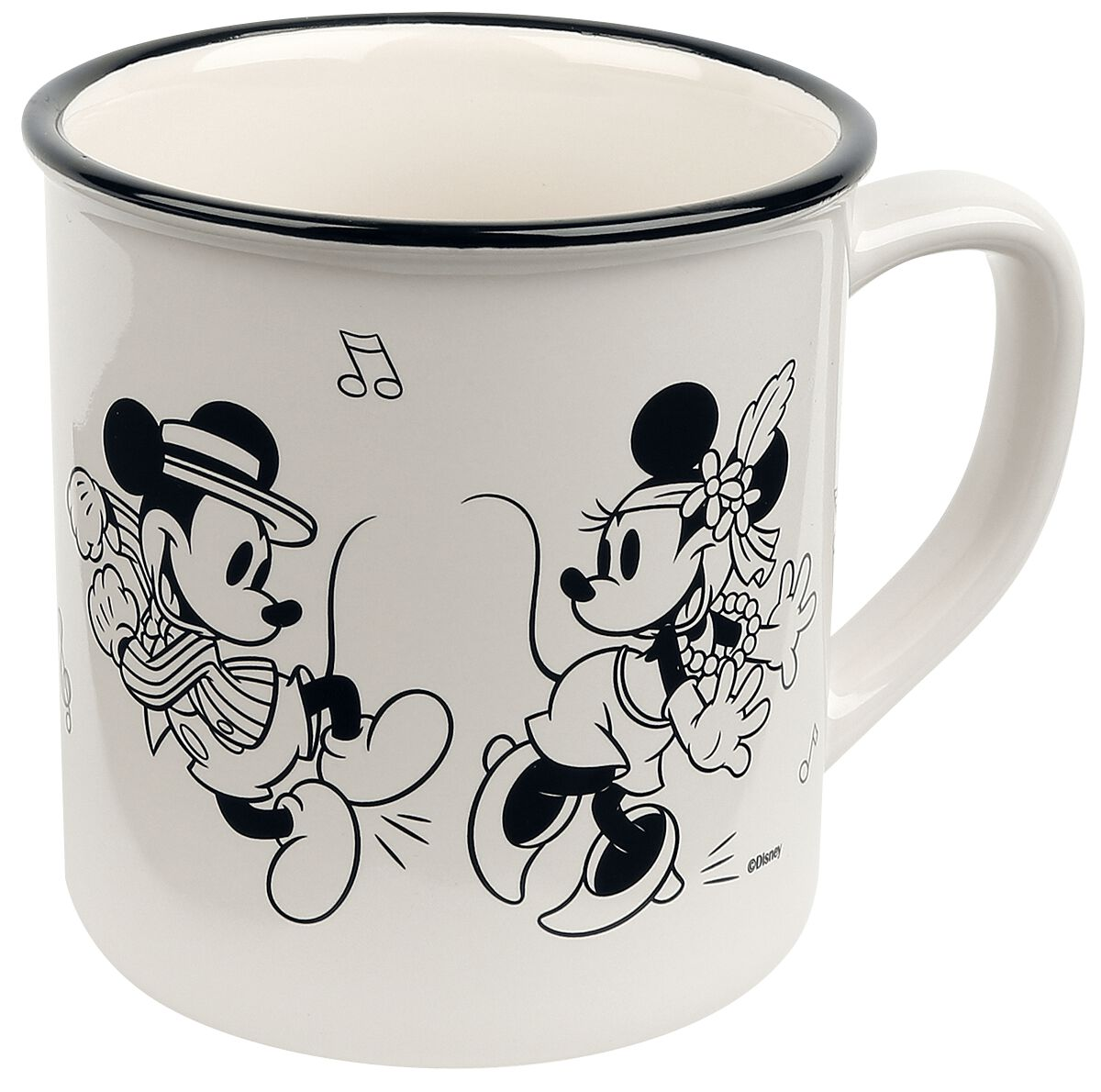 Image of   Mickey & Minnie Mouse Happy Time Krus multifarvet