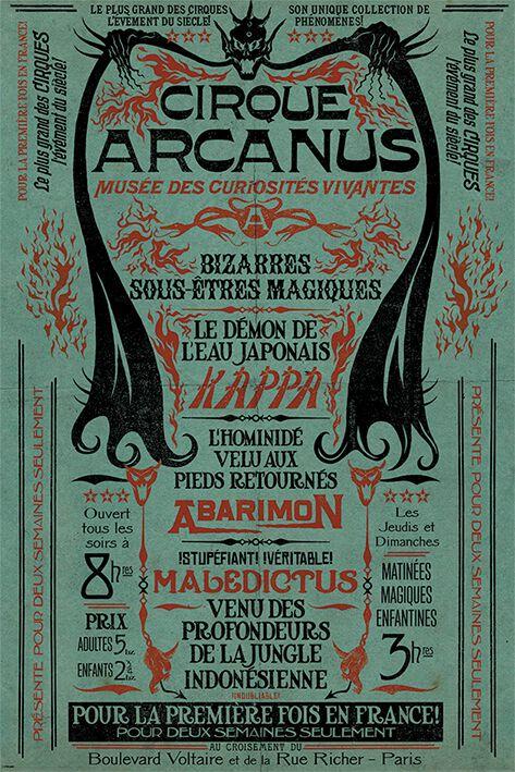 Image of   Fantastic Beasts Grindelwalds Verbrechen - Le Cirque Arcanus Plakat multifarvet