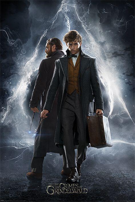 Image of   Fantastic Beasts Grindelwalds Verbrechen - Newt & Dumbledore Plakat multifarvet