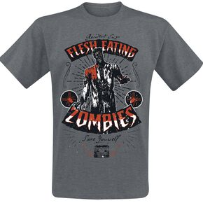 Resident Evil Flesh Eating Zombies T-shirt gris sombre chiné