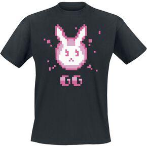 Overwatch D.VA - GG T-shirt noir