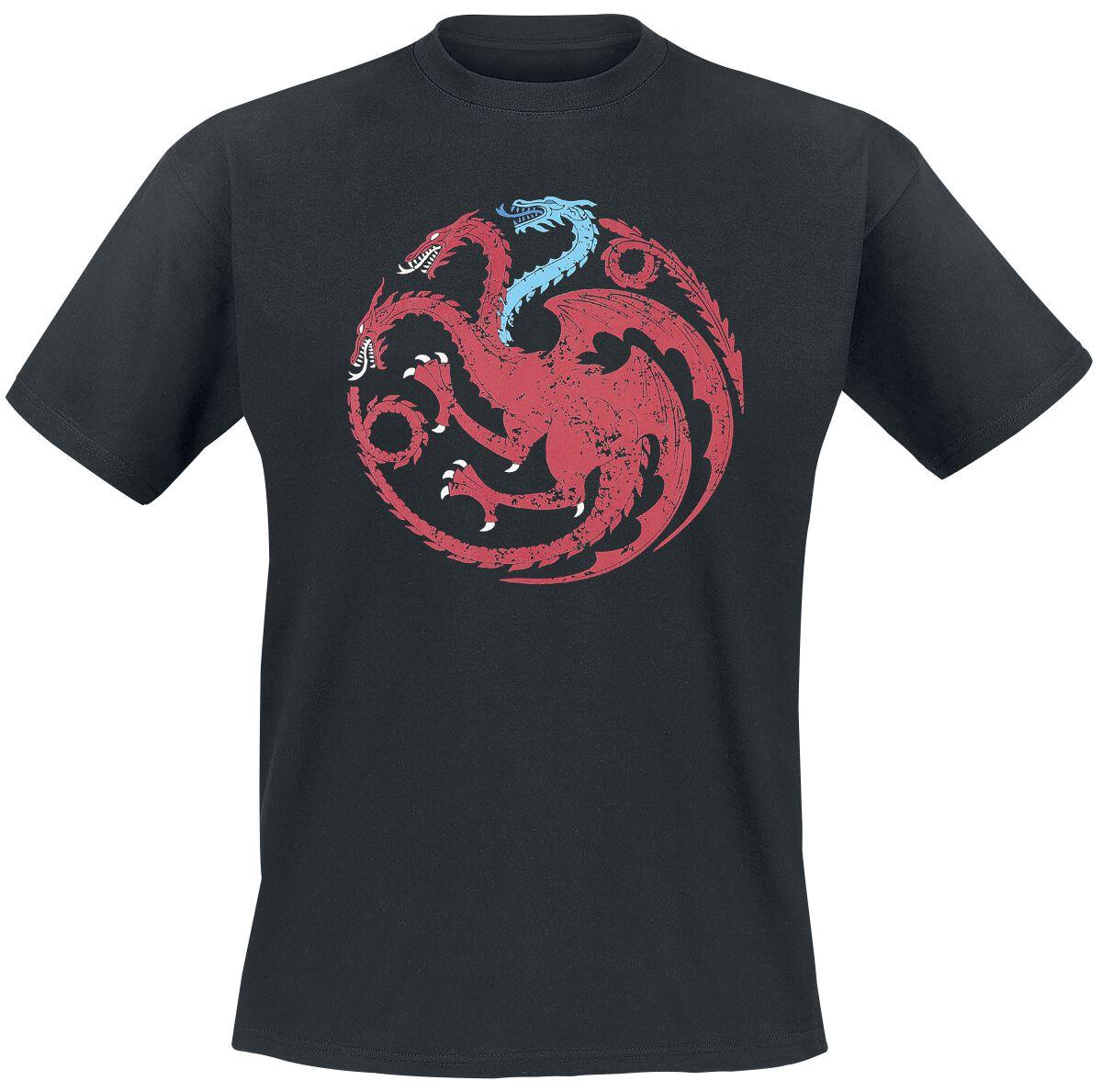 Image of   Game Of Thrones Targaryen - Viserion T-Shirt sort