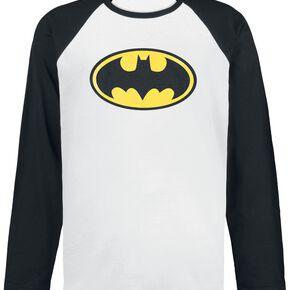 Batman Logo Manches longues blanc/noir