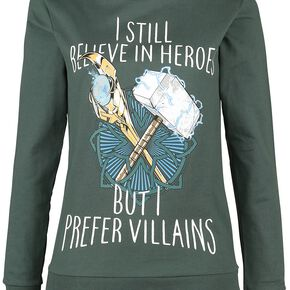 Thor Loki - Prefer Villains Sweat-shirt Femme vert foncé