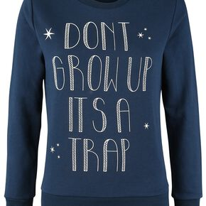 Peter Pan Peter Pan - Don't Grow Up Sweat-shirt Femme bleu foncé