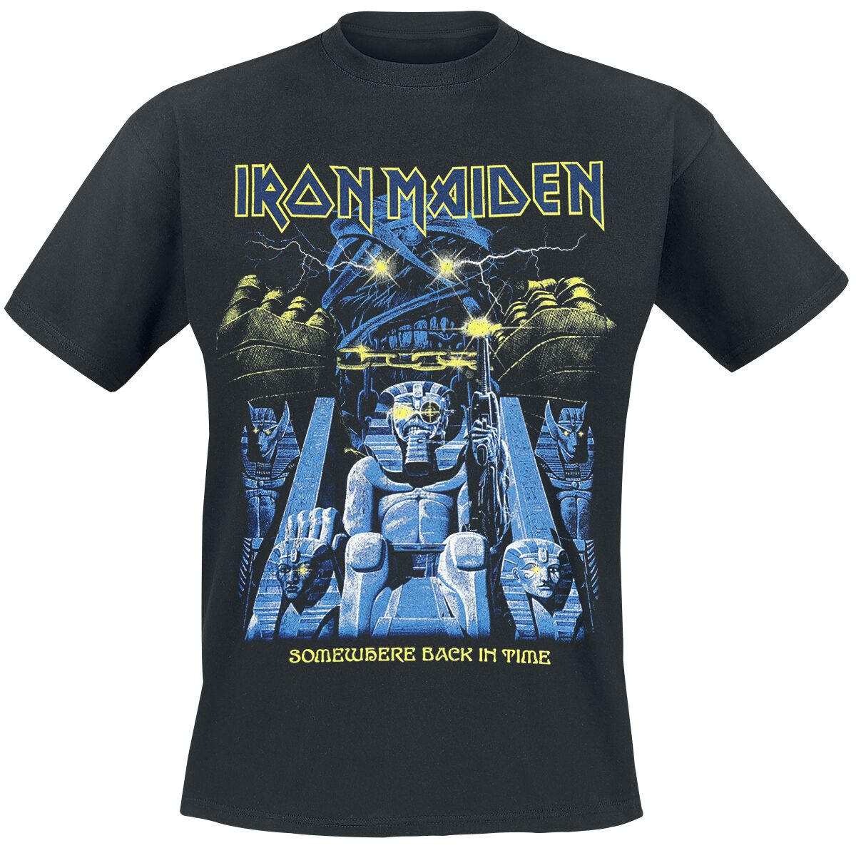 Image of   Iron Maiden Back in Time Mummy T-Shirt sort