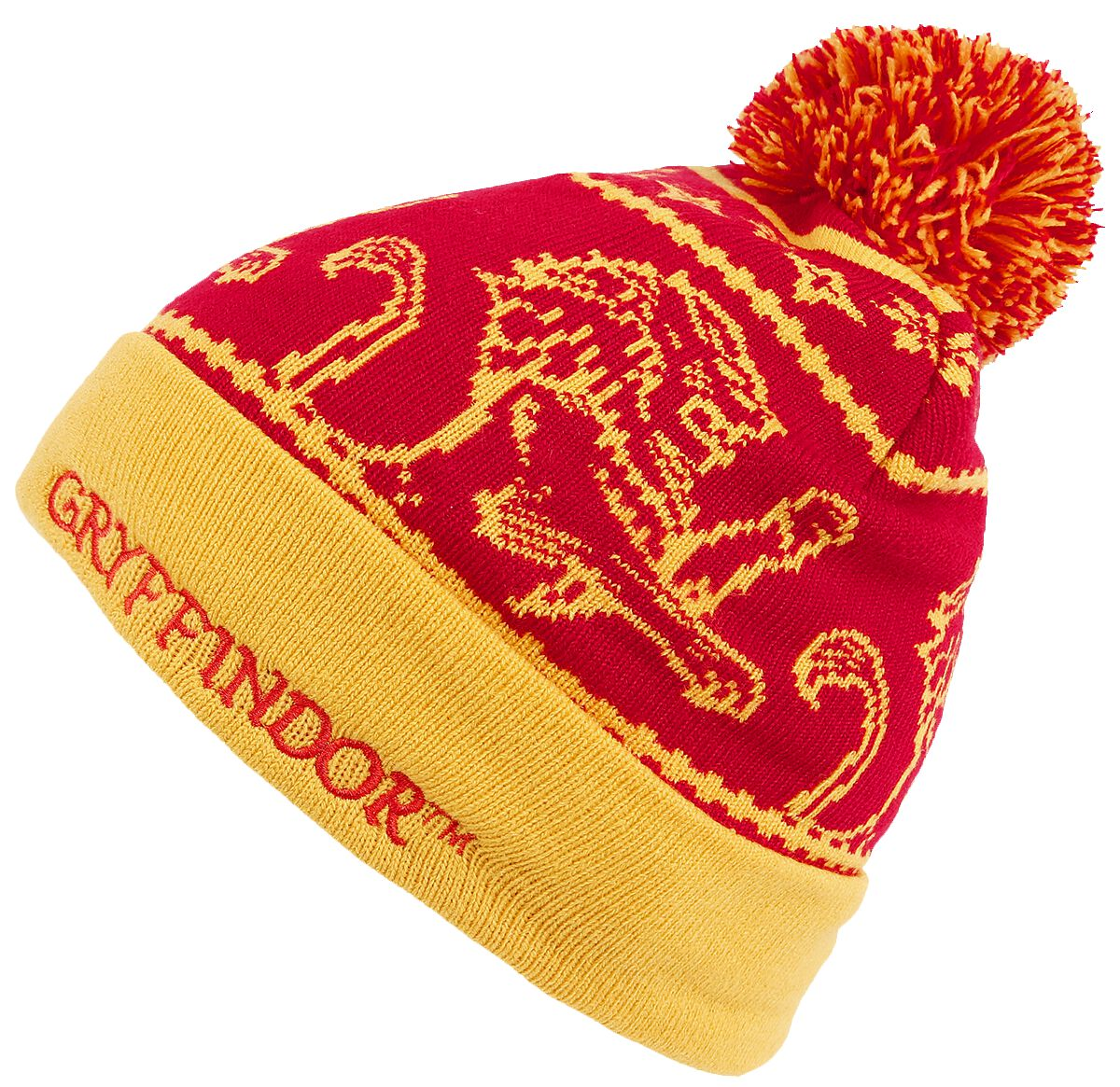 Image of   Harry Potter Gryffindor Beanie gul-rød