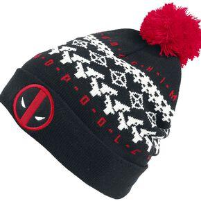 Deadpool Face Bonnet noir/blanc/rouge