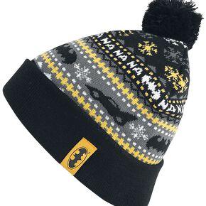 Batman Logo Bonnet noir/gris/jaune