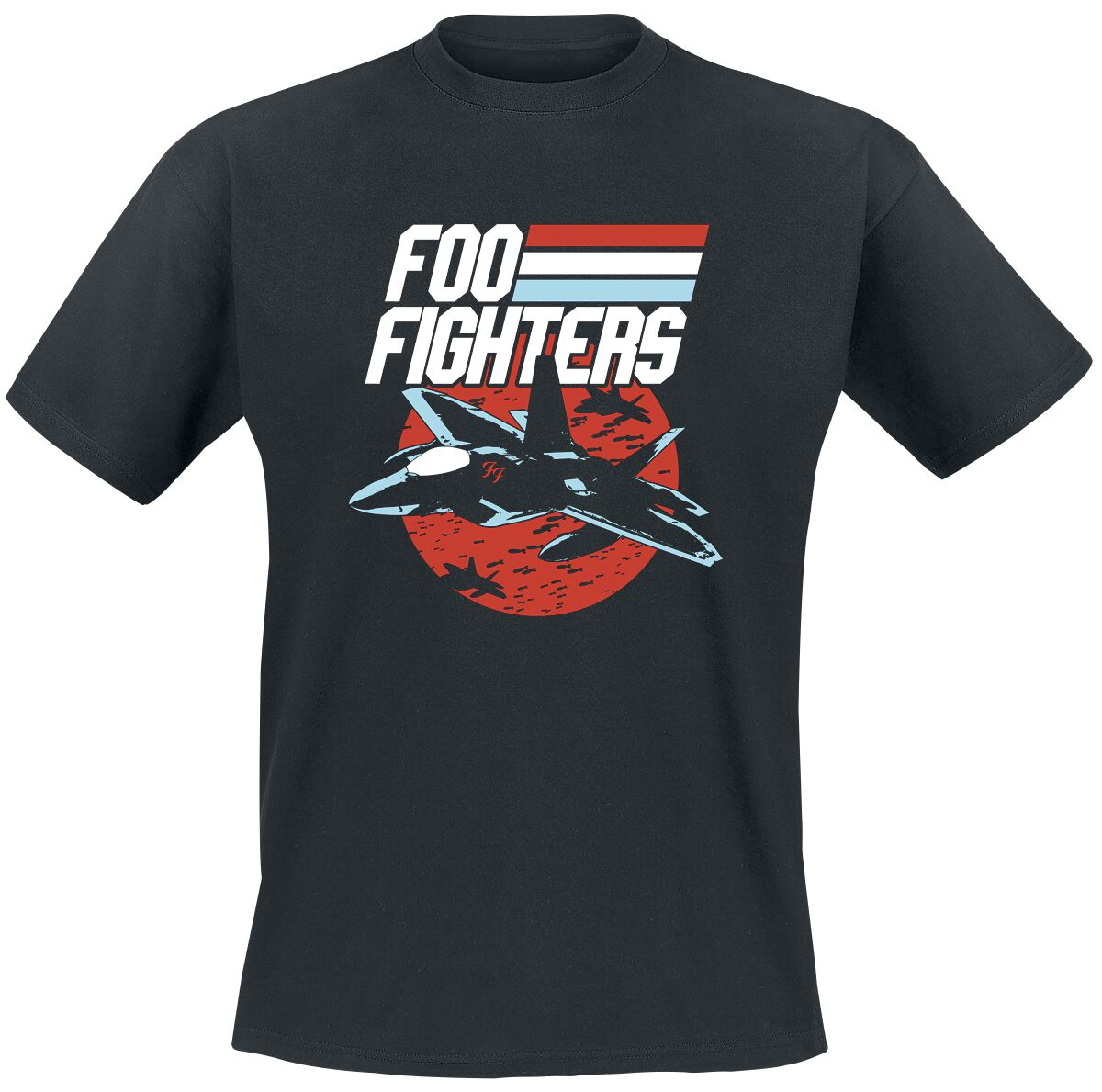 Image of   Foo Fighters Fighter Jet T-Shirt sort