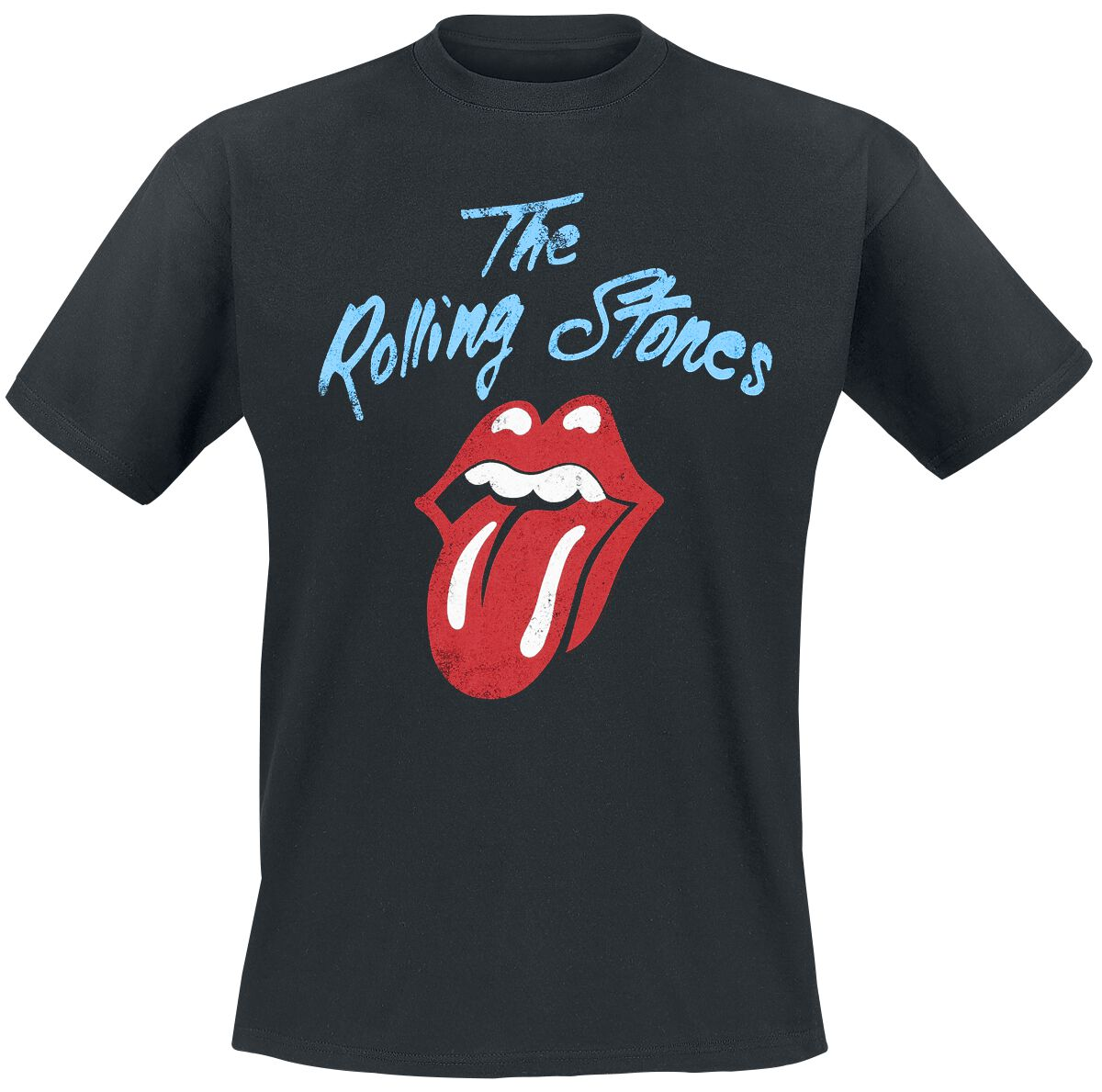 Image of   The Rolling Stones Tongue T-Shirt sort