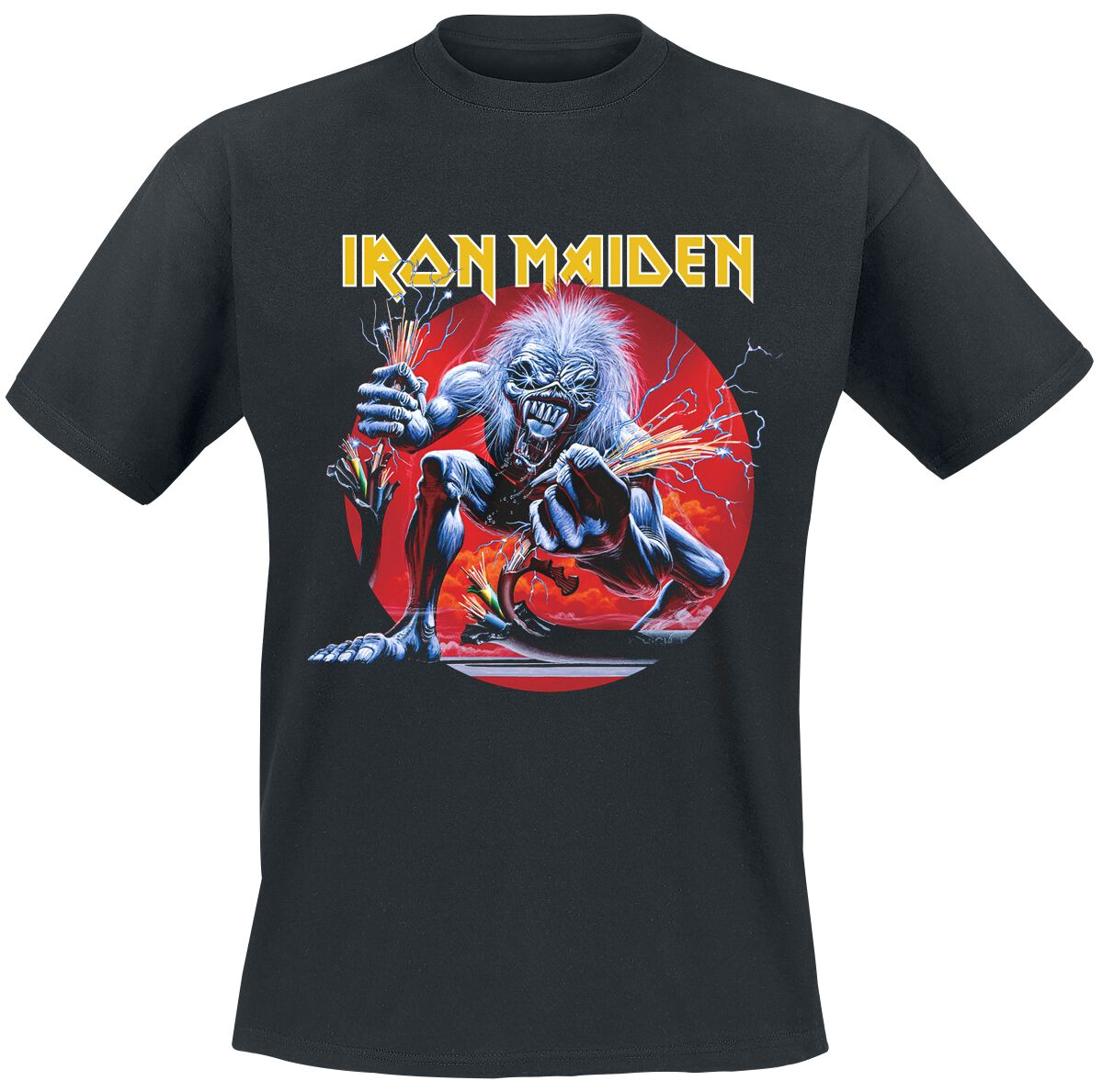 Image of   Iron Maiden A Real Live One T-Shirt sort