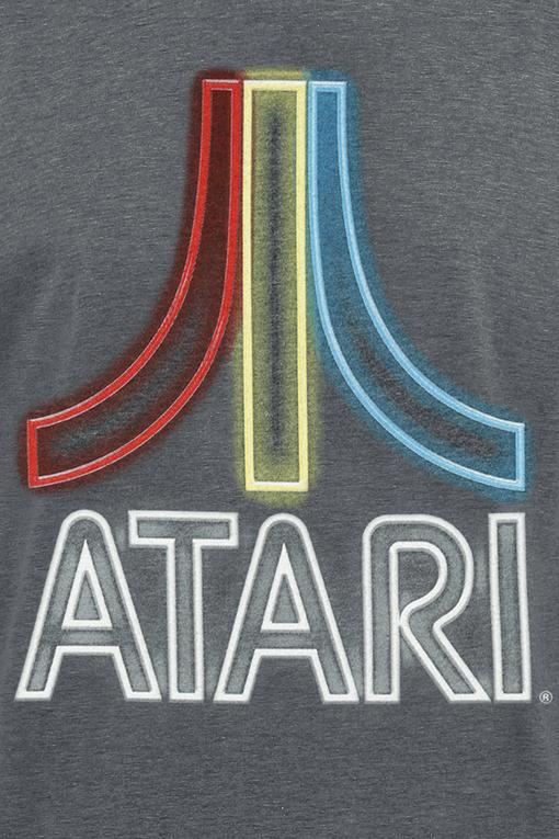 Image of Atari Neon Logo T-Shirt dunkelgrau meliert