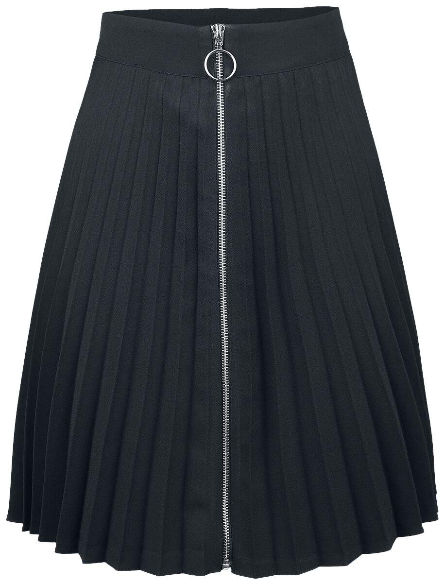 Roecke für Frauen - Banned Alternative Urban Vamp Pleats Skirt Kurzer Rock schwarz  - Onlineshop EMP