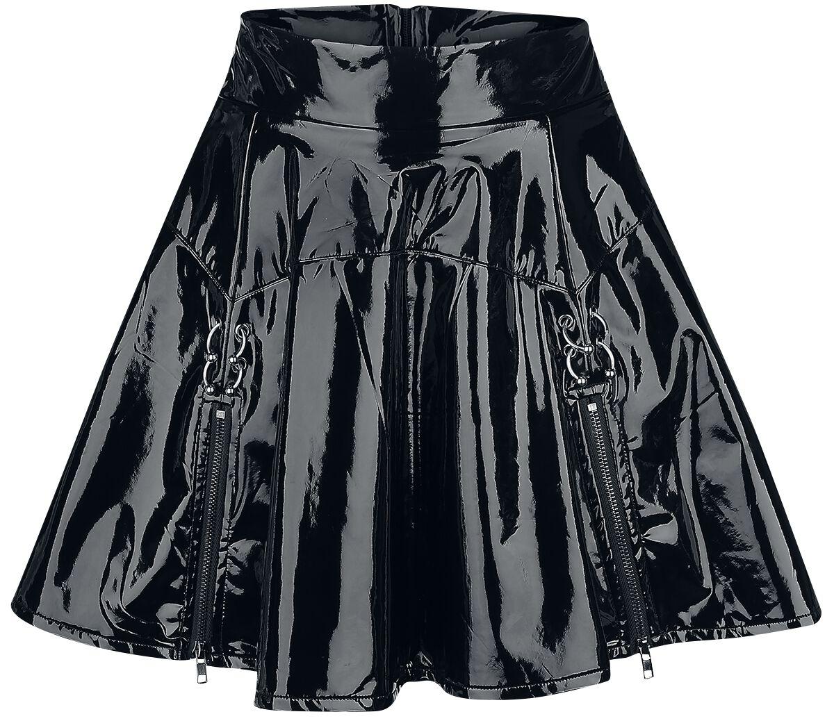 Roecke für Frauen - Banned Alternative Bondage Skirt Minirock schwarz  - Onlineshop EMP