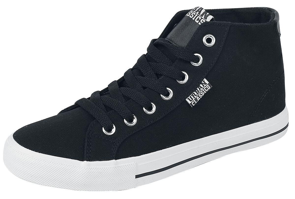 Sneakers für Frauen - Urban Classics High Top Canvas Sneaker Sneaker schwarz weiß  - Onlineshop EMP
