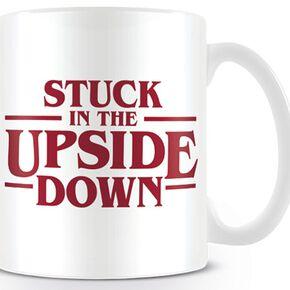 Stranger Things Stuck in the upside down Mug blanc