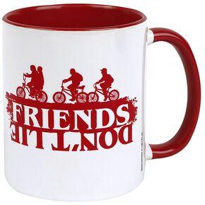 Stranger Things Friends Don't Lie Mug blanc/rouge