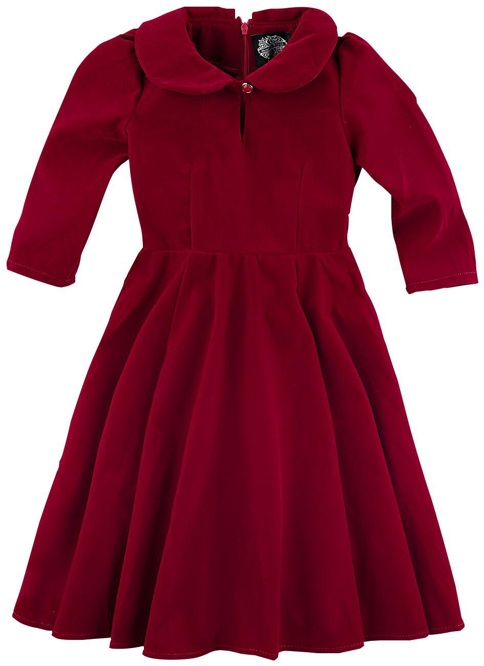 f745c4861358 H R London Glamorous Velvet Kids  Tea Kjole Børnekjole rød