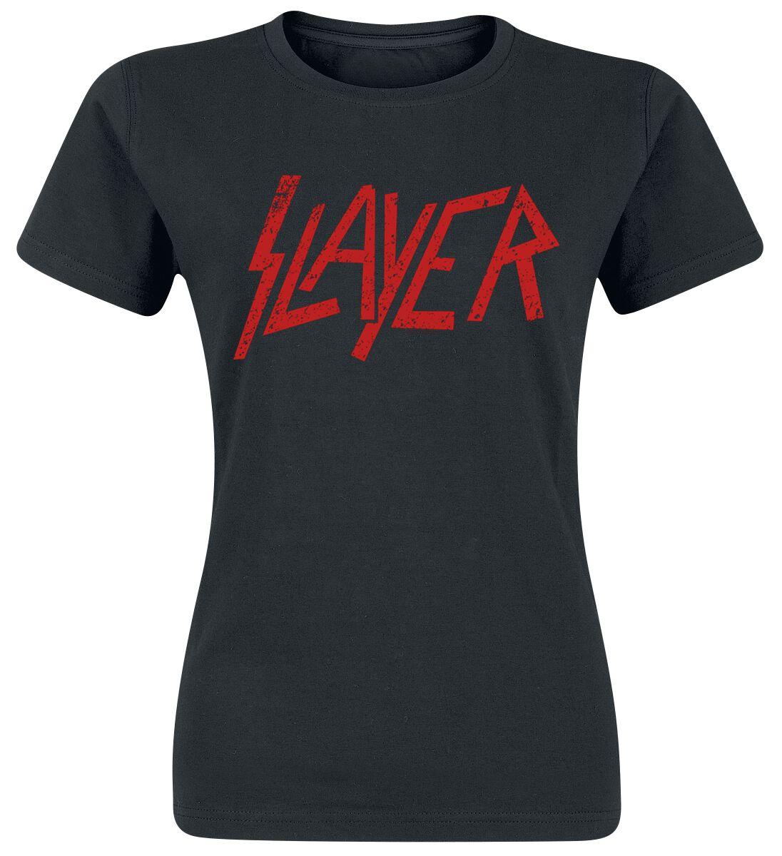 Image of   Slayer Logo Girlie trøje sort