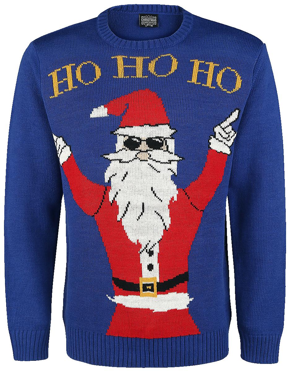 Ugly Christmas Sweater - Ho Ho Ho - Knit sweater - blue image