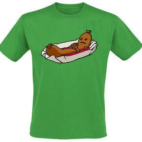 Currywurst T-shirt vert