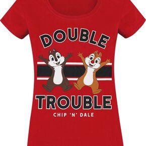 Chip & Chap Tic & Tac - Double Trouble T-shirt Femme rouge