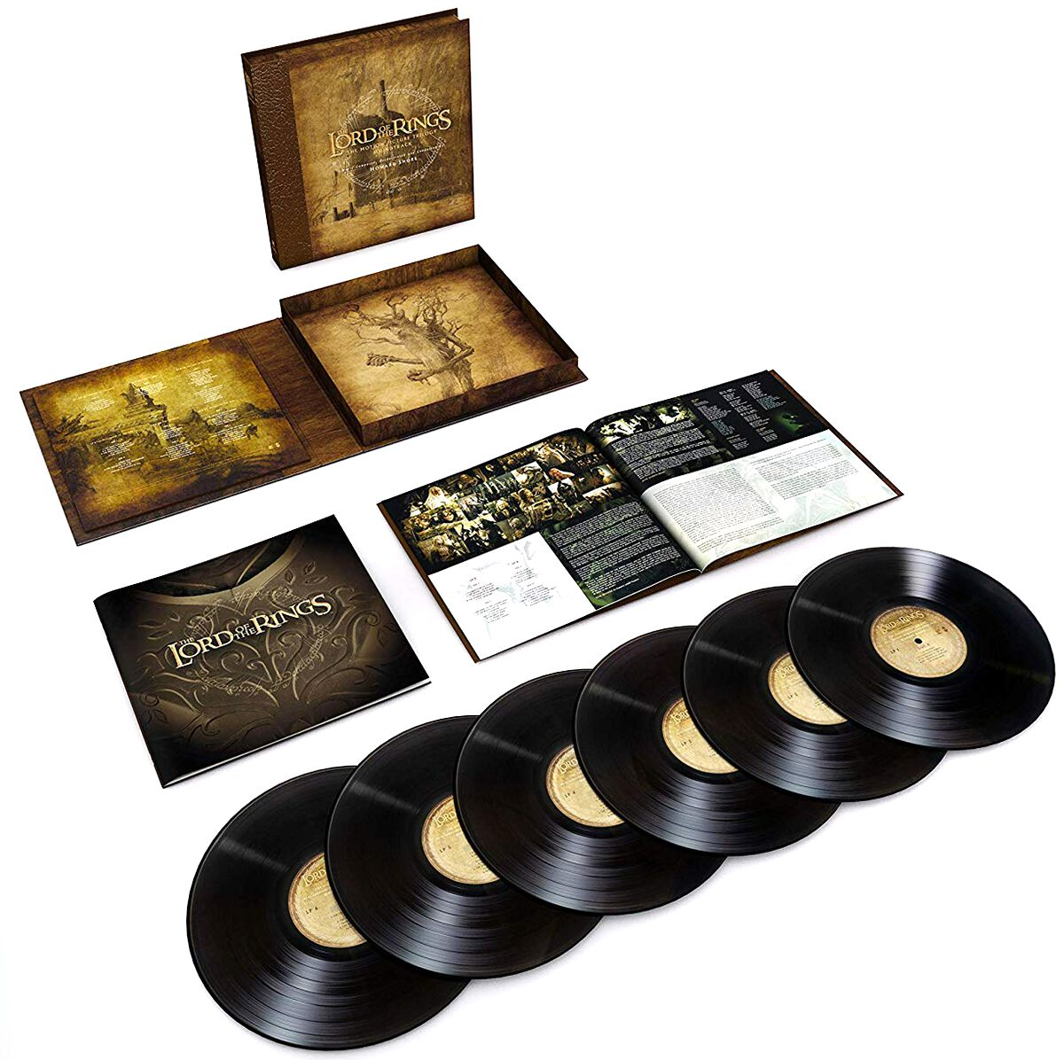 Image of   Ringenes Herre The lord of the rings: The motion picture trilogy soundtrack 6-LP BOX standard