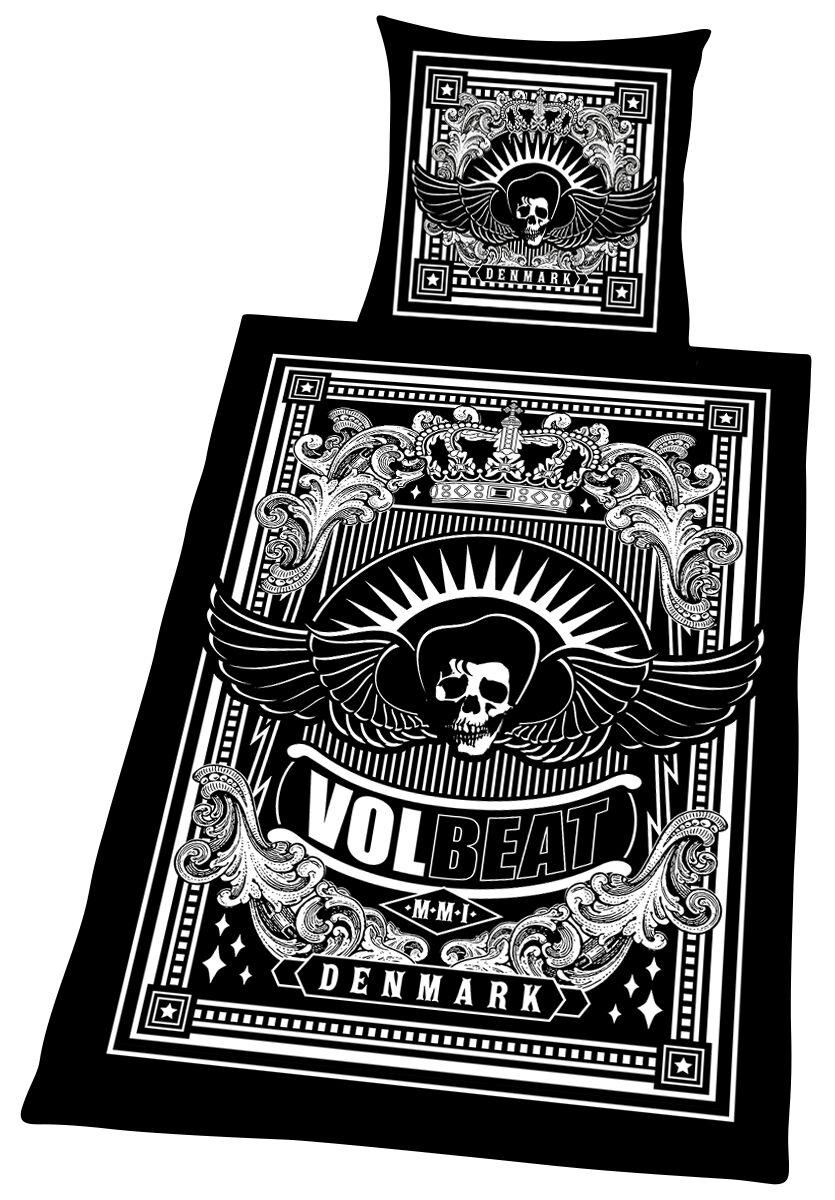 Image of   Volbeat Skullwing Sengesæt sort-hvid