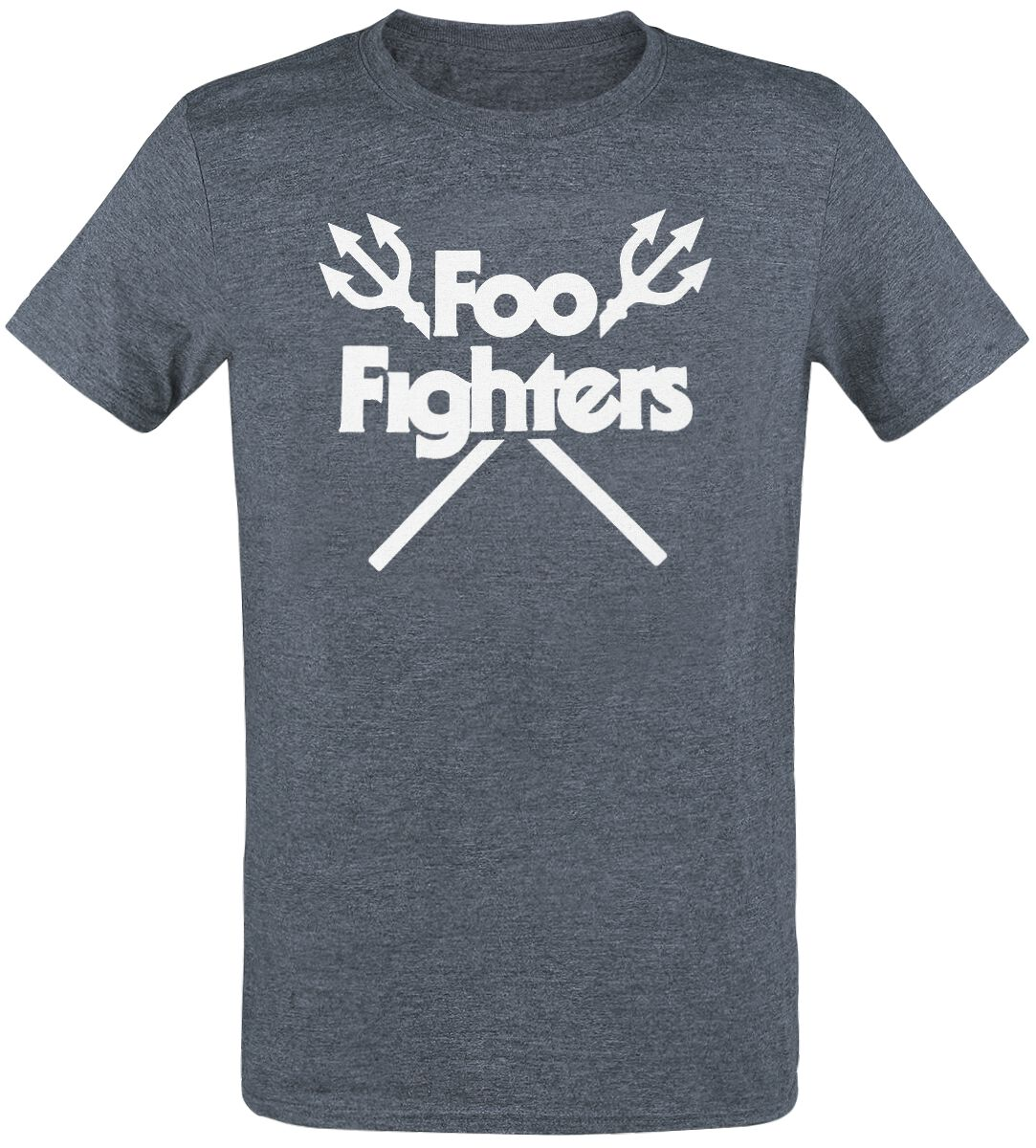 Image of   Foo Fighters Trident T-Shirt grålig