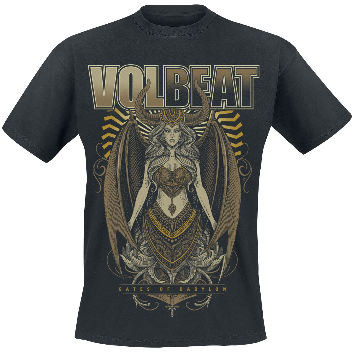 Image of   Volbeat Babylon Goddess T-Shirt sort