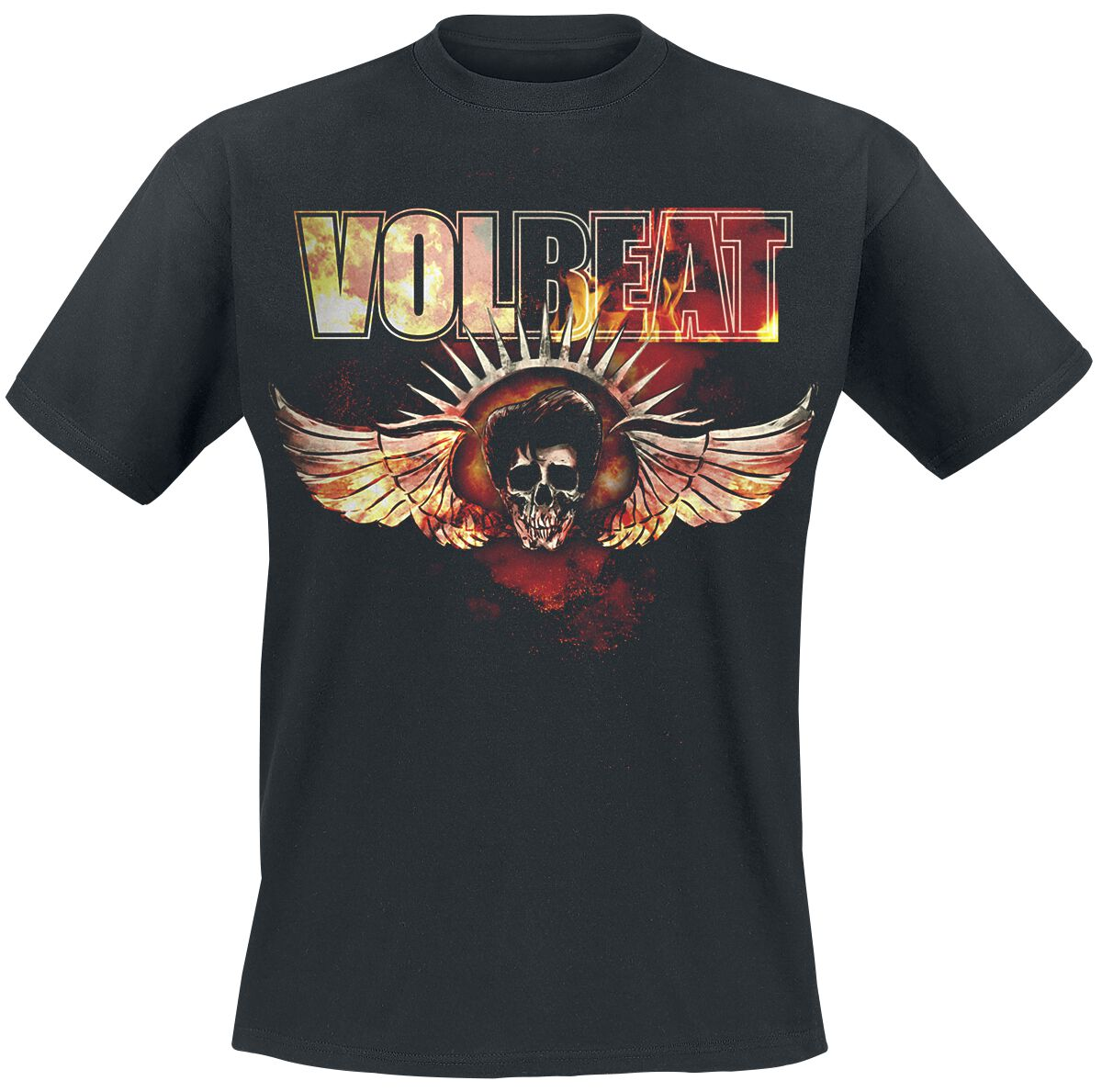 Image of   Volbeat Burning Skullwing T-Shirt sort