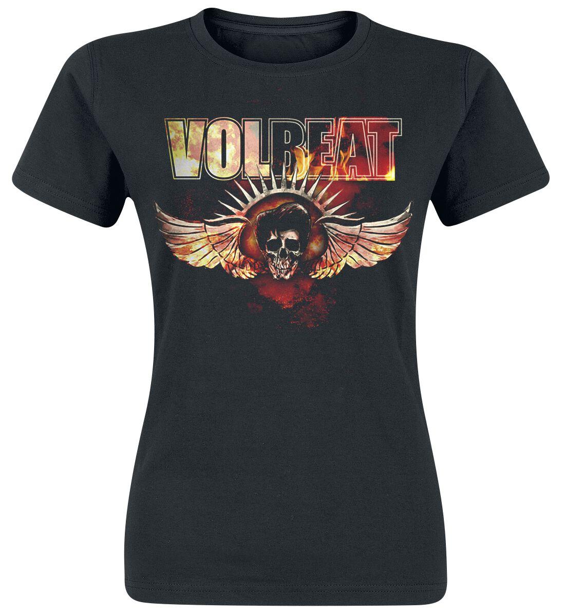Image of   Volbeat Burning Skullwing Girlie trøje sort