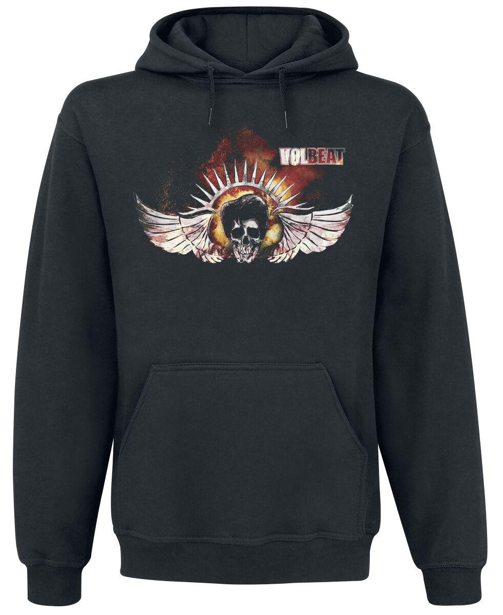Image of   Volbeat Burning Skullwing Hættetrøje sort