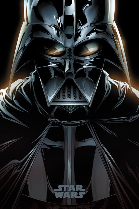 Image of   Star Wars Darth Vader Plakat multifarvet