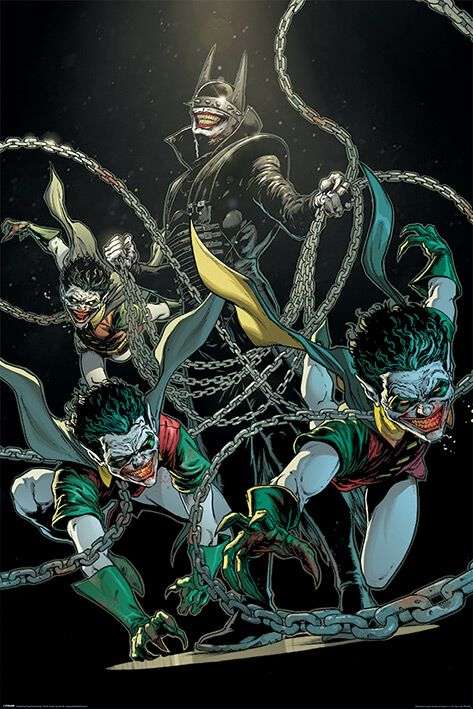 Image of   Batman The Bat Who Laughs Plakat multifarvet