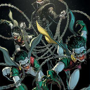 Batman The Bat Who Laughs Poster multicolore