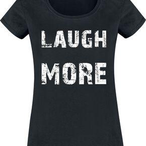 Laugh More T-shirt Femme noir