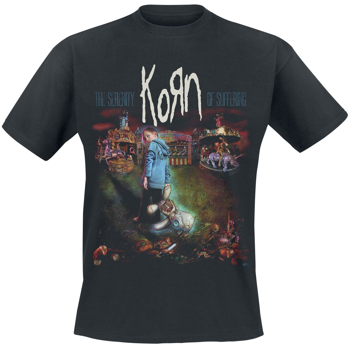 Image of   Korn Dark Circus T-Shirt sort