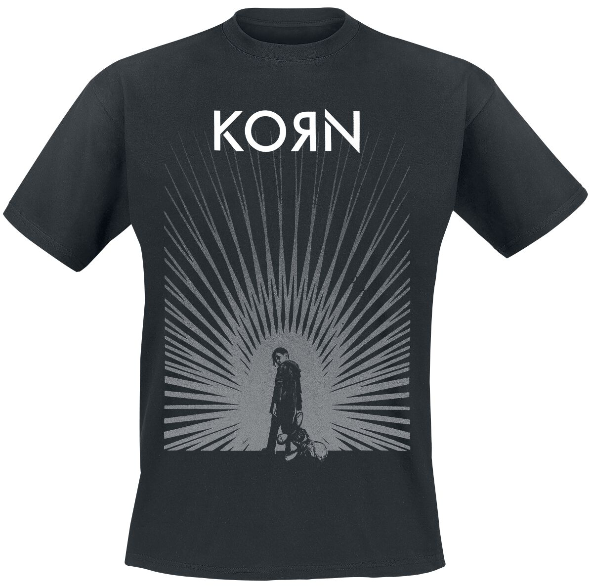 Image of   Korn Radiate Glow T-Shirt sort
