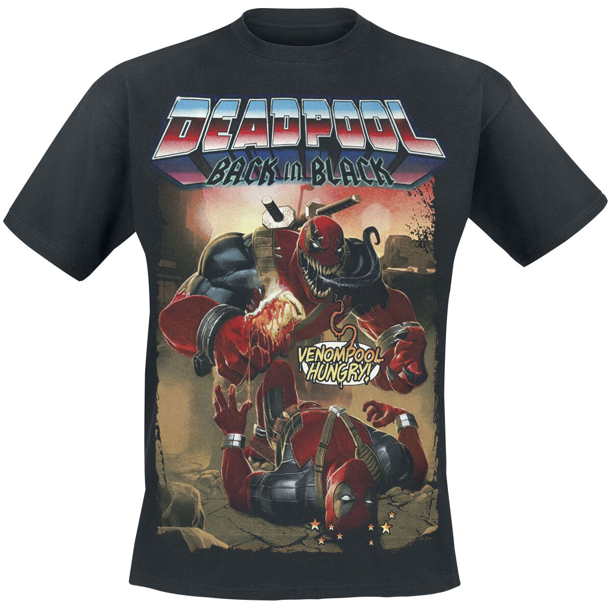 Image of   Deadpool Venompool T-Shirt sort