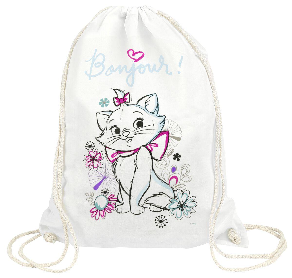Sporttaschen für Frauen - Aristocats Marie Bonjour Turnbeutel weiß  - Onlineshop EMP